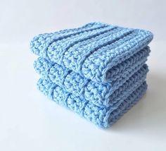 Crochet Wash Cloths  Cotton Crocheted Wash Cloths  by HandMadeByDz