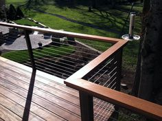 aluminum deck railings with wood top | Alumarail has been the top choice for deck railing for years but ...