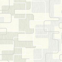 2662-001931 Light Grey Geometric - Integrate - Precision Wallpaper by Beacon House