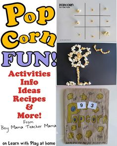 Popcorn Fun! Activities, ideas and more.
