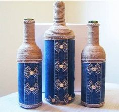 DIY Vases #decoratedwinebottles