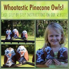 Easy Owl Pinecone Craft