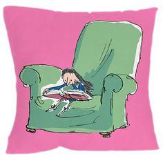 Matilda Pink Cushion by Roald Dahl at Dotmaison
