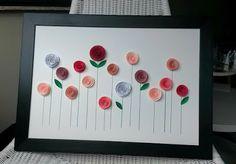 The Catelier - amintiri pentru 9 vieti: Tablou cu rozete Paper Flowers, Triangle, Buttons, Creative, Tissue Flowers, Plugs, Button