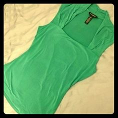Banana Republic teal top Elegant teal top from Banana Republic. Stretchy fabric. Square neckline to accent your shoulders and collarbone. Front is double lined. Ruching detail at neck and on sleeves. Banana Republic Tops