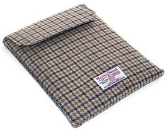 Ipad Cover HARRIS TWEED Dogtooth Check Brown by WhimsyWooDesigns, £30.00