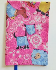 Paperback Book Cover Fabric Book Cover Pink and by momssewingroom, $7.00