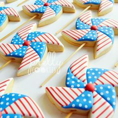 """414 Likes, 8 Comments - April (@prellycookies) on Instagram: """"Happy 4th of July ❤️ #4thofJuly"""""""