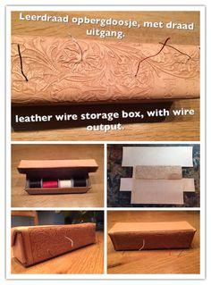 Wire Storage, Box, Leather, Craft Work, Snare Drum, Thread Storage