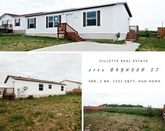 2706 Baywood St in Gillette, WY is a cozy home backing up to a vacant field. This hud home is looking for a new family! Call Team Properties Group for more info 307.685.8177