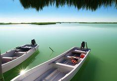 Lagune de Muyil Boat, Caribbean, Paths, Scouts, D Day, Places, Dinghy, Boats, Ship
