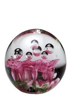 Pretty glass bubbles paperweight.