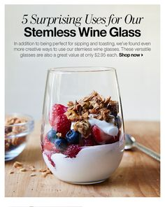5 Surprising Uses for Our Stemless Wine Glass