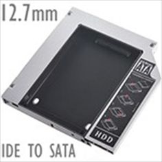 Universal 12.7mm IDE to SATA 2nd Aluminum Hard Disk Drive HDD Caddy for Laptop Notebook