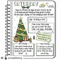 Unfortunately Santa does not hand out feeling-good from the sack on his back. It is not that uncommon for people to feel not-so-fantastic at the holidays, as Anna @annaslettering points out in her wonderful post. Very generous of her to share what she is feeling so other people who can relate don't feel like they're the only ones. All, hang in there. Be kind to yourself. You don't have to look like they do in the commercials. (Click #bjcselfcare for more on IG @bulletjournalcollection)
