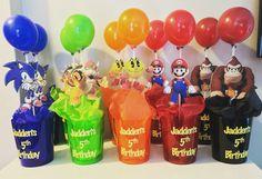 Smash Bros Sonic Birthday, Mario Birthday Party, 10th Birthday Parties, Mario Party, 8th Birthday, Birthday Party Themes, Birthday Ideas, Super Mario Smash Bros, Nintendo Party