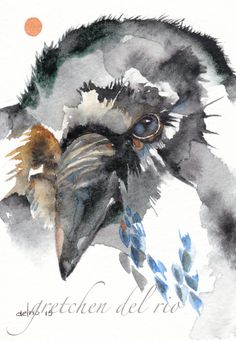 LOVE!! Awesome Simple depiction of Corvidae by Gretchen Del Rio