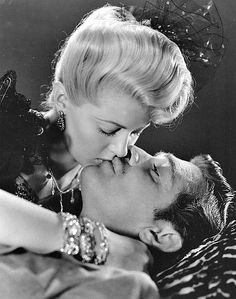 """Clark Gable and Lana Turner in """"Honky Tonk"""" (1941) jewelry by Joseff of Hollywood."""