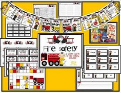 fire safety printables for Fire Safety For Kids, Fire Safety Week, Child Safety, Fire Prevention Week, Kindergarten Themes, Preschool Ideas, Teaching Ideas, Community Helpers Preschool, Community Workers