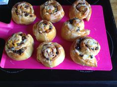 Just made these beautiful Chelsea Buns with The Great British Bake off recipe! So simple and they are amazing!