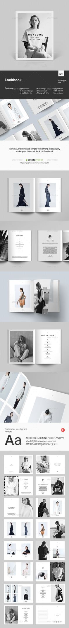 Lookbook — InDesign INDD #portfolio #clothing • Download ➝ https://graphicriver.net/item/lookbook/19527313?ref=pxcr