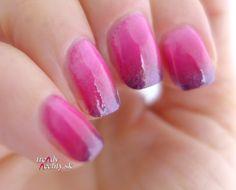 pink and purple gradient, Nail art, Nail design,   Gradient