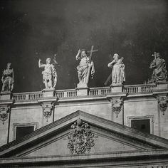 Saints that you can visit in Vatican. @Vartika Chaudhary #vatican #blackandwhite #rome#travel #retro