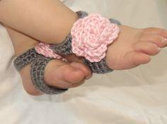 Barefoot Sandals Crochet Baby Girl Foot Accessory by CrochetToZ