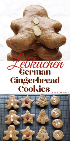 german christmas cookies Weihnachtspltzchen Lebkuchen are soft German gingerbread cookies. My mom has been making this recipe every Christmas for as long as I can remember. German Christmas Cookies, German Cookies, Holiday Cookies, Christmas Gingerbread, Gingerbread Houses, Holiday Baking, Christmas Baking, Italian Christmas, Simple Christmas