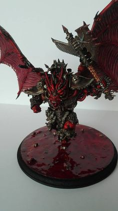 Warhammer 40k   Chaos Space Marines   Khorne Daemonprince Primarch Angron…