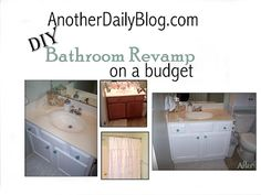 Easy Cabinet Painting on a Budget & Guest Bath Revamp  anotherdailyblog.com