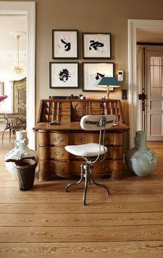 http://www.ebay.fr/itm/style-ancien-meuble-de-rangement-bureau ... - Meuble Bureau Secretaire Design