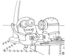Espaço Educar desenhos para colorir : Desenhos, figuras, moldes dos Minions para colorir, pintar, imprimir!