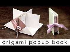 Origami Popup Book Tutorial - YouTube