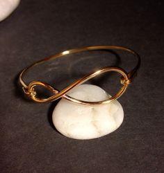 Brass infinity bangle, infinity bangle, bangle, Bridal Party Bracelet, Wedding Jewelry on Etsy, $19.99