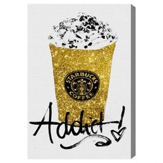 HAHAHAHA. Yesss!! #starbucks #olivergal Glitter Fuel — The Oliver Gal Artist Co.