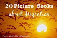 20 Picture Books About Migration - your children will love these books of different animals that migration every year. www.teachersofgoo...