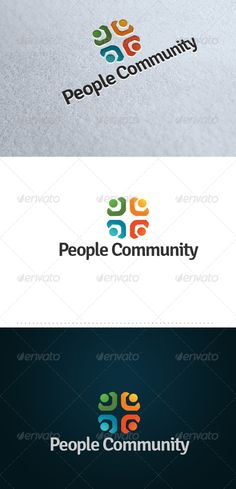 People Community: Humans Logo Design Template by eshcol. Typography Logo, Logo Branding, Branding Design, Clover Logo, Community Logo, Best Logo Design, Graphic Design, Care Logo, Motivational Messages