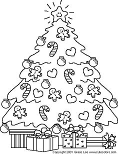Coloring Pages Of Christmas Trees Free Printable Coloring Pages