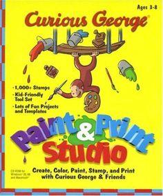 Curious George: Paint & Print Studio, 1999 Parents' Choice Award Gold Award - Software #Software