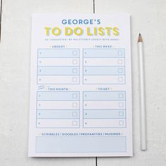 Notepad shopping list hand lettered notepad by howjoyfulshop 1200 personalised to do list a5 notepad stopboris Image collections