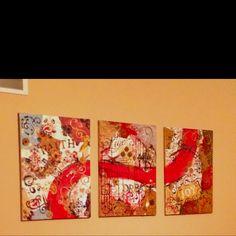DIY Section multimedia canvas art