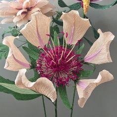 Crepe Paper Fantasy Flower Original Botanical by NectarHollow