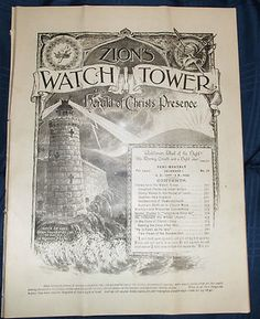December 1 1906 Zion's Watchtower and Herald of Christ's Presence Jehovah ----ew13012