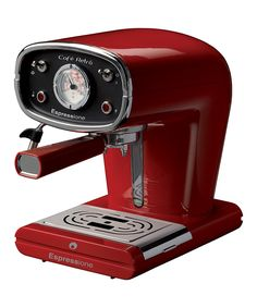 Espressione Red Café Retro Espresso Maker - $200. Not a fan of the red, but I love the shape and function.