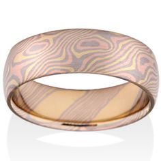 Birch Mokume in 18k Yellow Gold, 14k Red Gold and 14k Pd White Gold. Our latest mokume combination!