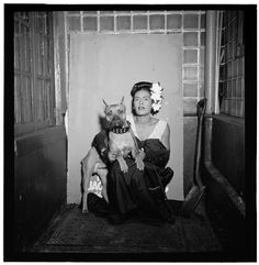 Andrew Sherman's blog: Billie Holiday with Dog Pitbull Terrier, Billie Holiday, Boxers, Boxer Dogs, Doggies, Pit Bulls, Jazz Musicians, Jazz Artists, Music Artists