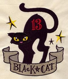 Black Cat Fever | Urban Threads: Unique and Awesome Embroidery Designs $5.00