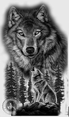 Wolf Sleeve, Wolf Tattoo Sleeve, Tattoo Sleeve Designs, Sleeve Tattoos, Wolf Tattoo Design, Wolf Tattoos Men, Animal Tattoos, Owl Tattoo Drawings, Native American Tattoos