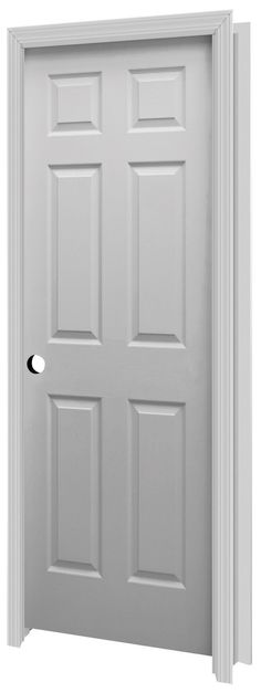 Complement Your Decor With A Beautiful Mastercraft 6 Panel Prehung Interior Door
